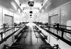 Interior of ambulance train