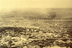 Slide of a photograph of the trenches