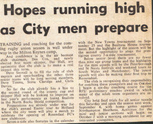 'Hopes running high as City men prepared'