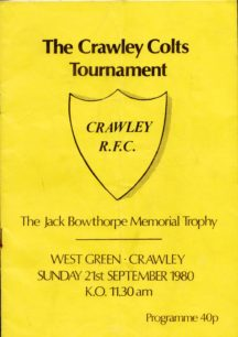 The Crawley Colts Tournament