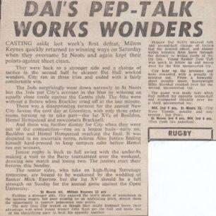 'Dai's Pep-Talk Works Wonders'