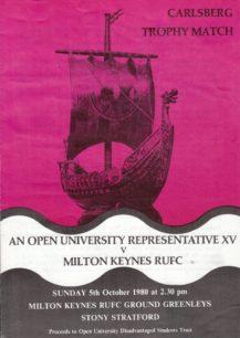 Milton Keynes RUFC 1980-81: press cuttings and memorabilia