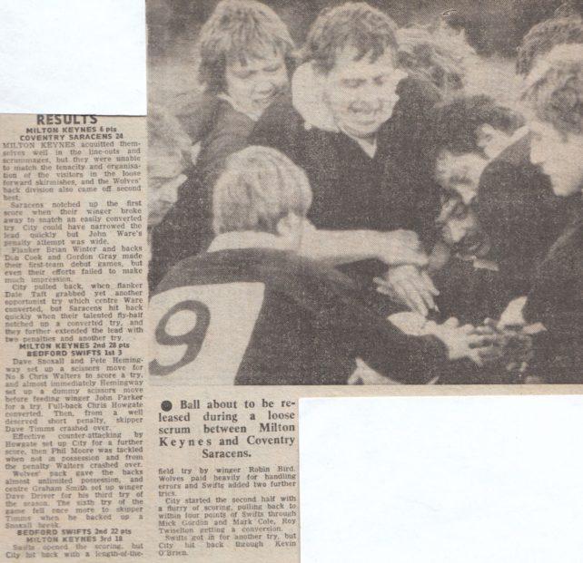 MK Rugby Club v Coventry Saracens match