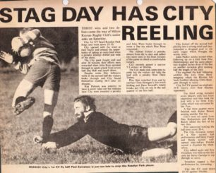 'Stag Day Has City Reeling'.