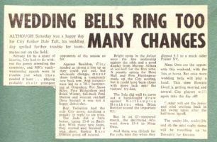 Wedding bells ring too many changes'; 'Tricky'; results roundup