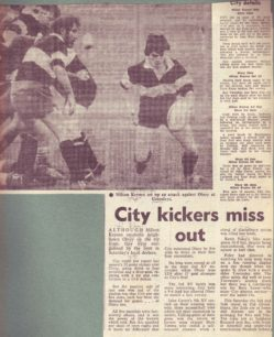 'City kickers miss out';