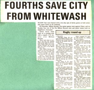 'Fourths save City from whitewash'