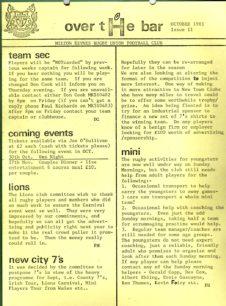 MK RUFC newsletter 'Over the' Bar