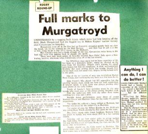 'Full marks to Murgatroyd'