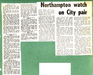 'Northampton watch on City pair'; Rugby roundup
