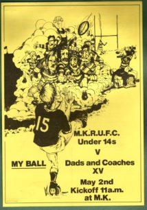 Milton Keynes RUFC 1981-1982: press cuttings and memorabilia