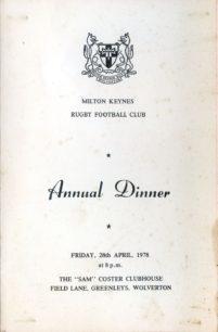 Milton Keynes RUFC 1977-78: press cuttings and memorabilia