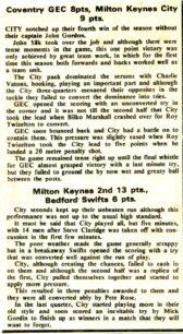 'Coventry GEC versus Milton Keynes City'; 'Milton Keynes 2nd XV versus Bedford'; Photo of MKRC players.