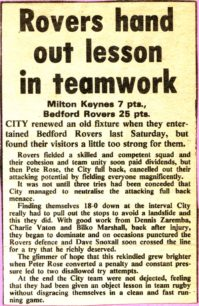 'Rovers hand out lesson in teamwork'
