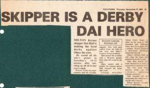 'Skipper is a Derby Dai Hero;