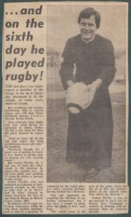 'And On The Sixth Day He Played Rugby'.