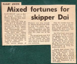 'Mixed Fortunes for Skipper Dai';
