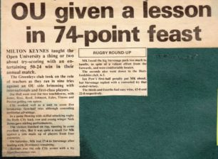 'OU given a lesson in 74-point feast'.