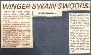 'Winger Swain Swoops';  'Much improved weather'