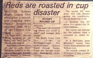 'With only two weekends left ';                 'Reds are roasted in cup disaster'.
