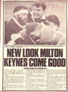 Milton Keynes RUFC 1983-84 season and 1988-89 season: press cuttings and memorabilia