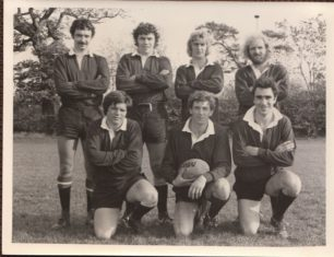 Team photos of the New City Sevens team during 1976-77
