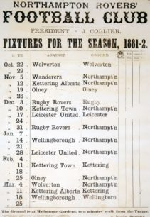 Items from the 1881-82 season of Wolverton Rugby Club