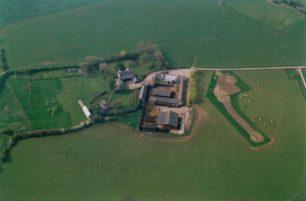 View of farm buildings