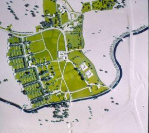 Model of Woughton village