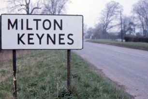 A Milton Keynes road sign