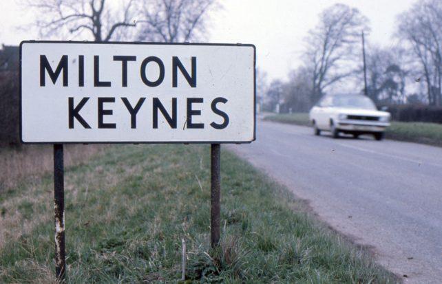 A Milton Keynes road sign