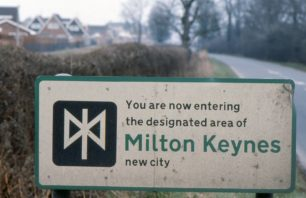 Road sign for Milton Keynes