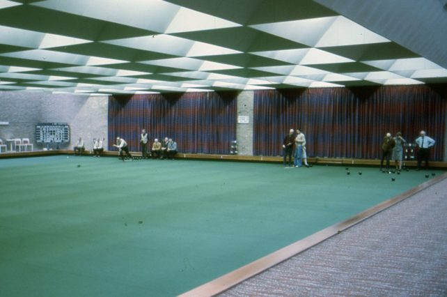 Indoor bowls at Bletchley Leisure Centre