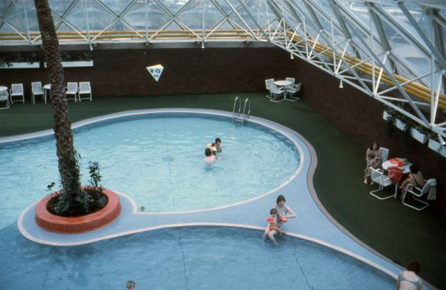 The indoor swimming pool at Bletchley Leisure Centre