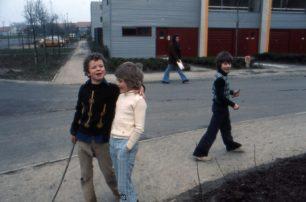 Boys in the street in Beadlemead, Netherfield