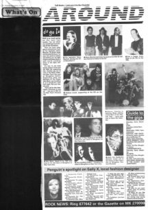 Promoting 1990 Xmas and New Years Eve music events [newspaper article]