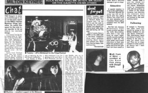August 1993 gigs including the Blues Collective [newspaper articles]