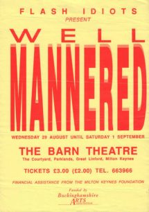 Well Mannered [poster for play]