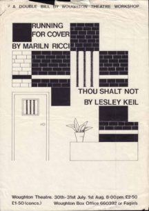 Running For Cover & Thou Shalt Not [poster for 2 plays]