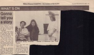 Gonna Tell You A Story [newspaper article]