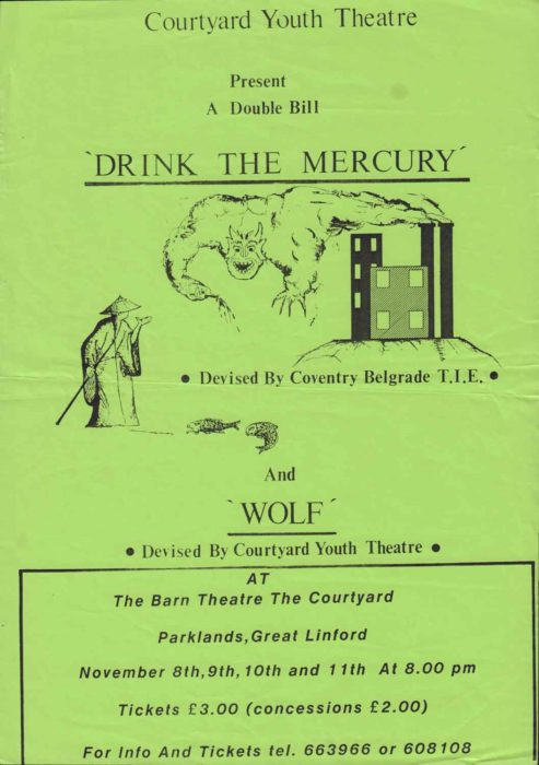 Drink The Mercury & Wolf [poster for 2 plays]