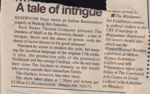 A Tale Of Intrigue [newspaper article]