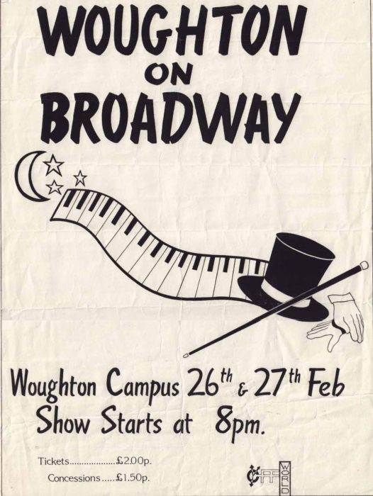 Woughton on Broadway [poster for play]