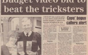 Budget video bid to beat the tricksters [newspaper article]