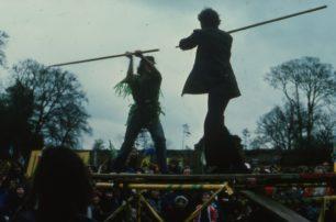 Robin Hood fights Little John
