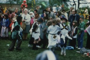 Schoolchildren at Great Linford Festival  1978