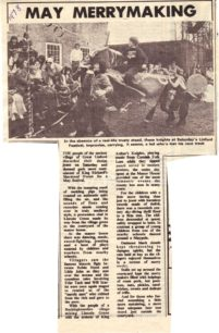 Four newspaper clippings about the Festival (Two shown here)