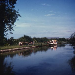 The Royal barge approaching 1981