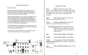 A selection of inner pages of the 1999 GLF programme