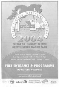 Front and back of Great Linford Festival  programme 17th to 20th June 2004